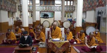 Maha Guru Bhumtsok Ceremony in Tsuglagkhang. Photo/Tenzin Phende/DIIR