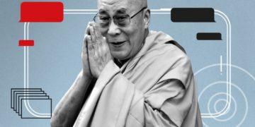 His Holiness The 14th Dalai Lama. Composite: Guardian/AP