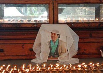 Mrs Dombo Kyi, the late mother of disappeared Tibetan writer and activist Lingtsa Tseten Dorjee.
