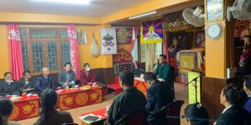 Sikyong Penpa Tsering interacting with the Tibetan public at Tashiling Tibetan settlement in Sonada, near Darjeeling on 19 October 2021. Photo: tibet.net